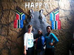 The lovely staff at Happy Hippo, Michelle, Zandi and Nomfundo. ©David Peter Harris.