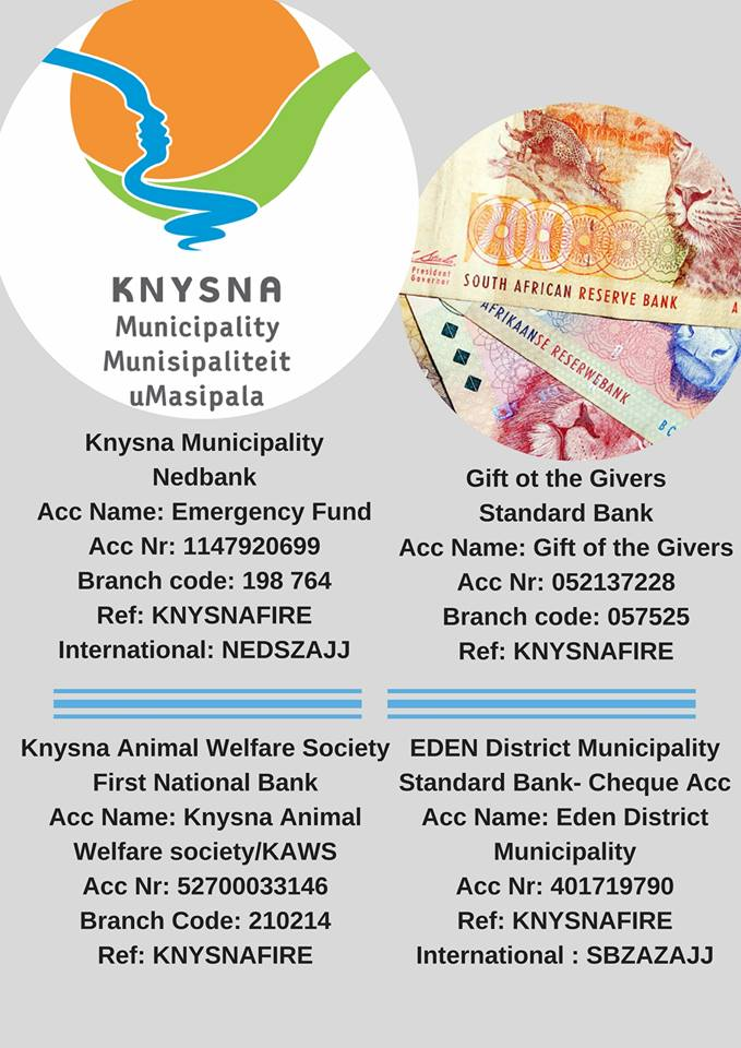 knysna donations